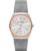 Buy Skagen Ladies Silver and Rose Gold Klassik Watch online