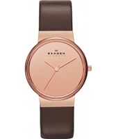 Buy Skagen Ladies Rose Gold and Brown Perspektiv Watch online