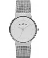 Buy Skagen Ladies White and Silver Klassik Watch online