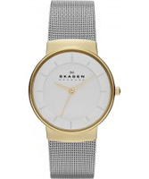 Buy Skagen Ladies White and Silver Klassik Watch online