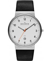 Buy Skagen Mens White and Black Klassik Watch online