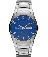 Buy Skagen Mens Blue and Silver Klassik Watch online