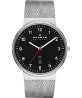 Buy Skagen Mens Black and Silver Klassik Watch online