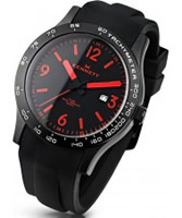 Buy Kennett Mens Altitude Black and Red Sports Watch online