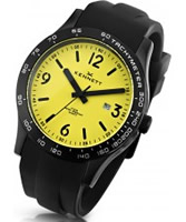 Buy Kennett Mens Altitude Black and Yellow Sports Watch online