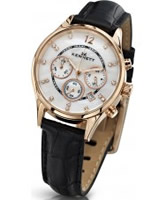 Buy Kennett Ladies Chronograph Savro Gold and Black Strap Watch online