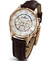 Buy Kennett Ladies Chronograph Savro Gold and Brown Strap Watch online
