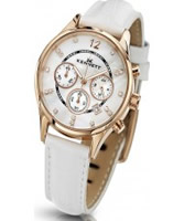 Buy Kennett Ladies Chronograph Savro Gold and White Strap Watch online