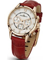 Buy Kennett Ladies Chronograph Savro Gold and Red Strap Watch online