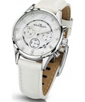 Buy Kennett Ladies Chronograph Savro Silver and White Strap Watch online