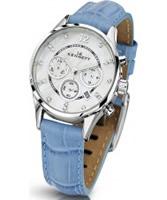 Buy Kennett Ladies Chronograph Savro Silver and Blue Strap Watch online