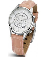 Buy Kennett Ladies Chronograph Savro Silver and Pink Strap Watch online