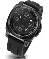 Buy Kennett Mens Valour Classic Black Leather Strap Watch online