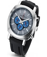Buy Kennett Mens Challenger Silver and Black Chronograph Watch online