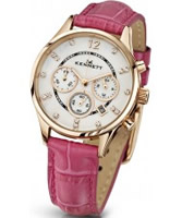 Buy Kennett Ladies Chronograph Savro Gold and Hot Pink Strap Watch online