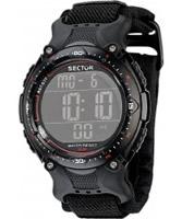 Buy Sector Mens Street Digital Black Velcro Strap Watch online
