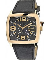 Buy Just Cavalli Mens Black and Gold Screen Watch online