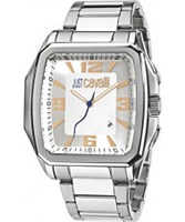 Buy Just Cavalli Mens Silver Rider Watch online