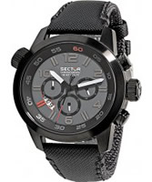 Buy Sector Mens Oversize Chronograph Black Fabric Watch online
