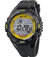 Buy Sector Mens Street Digital Black PU Strap Watch online