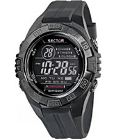 Buy Sector Mens Street Digital Black PU Strap Watch online