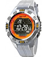 Buy Sector Mens Street Digital Grey PU Strap Watch online