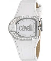 Buy Just Cavalli Ladies All White Logo Watch online