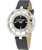 Buy Just Cavalli Ladies Black Multilogo Watch online
