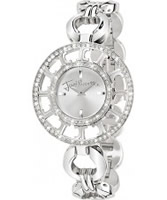 Buy Just Cavalli Ladies Silver Multilogo Watch online