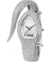 Buy Just Cavalli Ladies Silver Poison Watch online