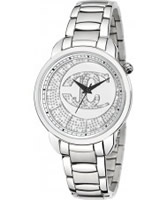 Buy Just Cavalli Ladies Silver and White Trendy Watch online