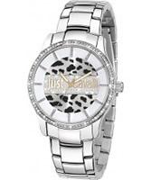 Buy Just Cavalli Ladies Silver Huge Watch online