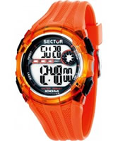 Buy Sector Mens Street Digital Orange PU Strap Watch online