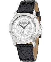 Buy Just Cavalli Ladies White and Black Moon Watch online