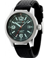 Buy Sector Mens Overland Black Leather Strap Watch online