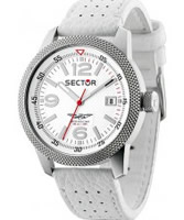 Buy Sector Mens Overland White Leather Strap Watch online