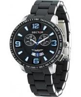 Buy Sector Mens 400 Range Chronograph Black Steel Watch online