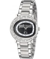 Buy Just Cavalli Ladies Black and Silver Lac Watch online
