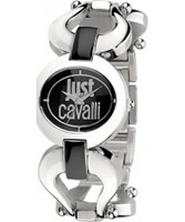 Buy Just Cavalli Ladies Black and Silver Cruise Watch online