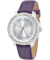 Buy Just Cavalli Ladies Purple Shiny Watch online