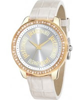 Buy Just Cavalli Ladies White Shiny Watch online