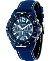 Buy Sector Mens Expander 90 Multi Dial Blue Fabric Watch online