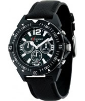 Buy Sector Mens Expander 90 Multi Dial Black Fabric Watch online