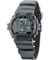 Buy Sector Street Digital Black PU Strap Watch online