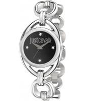 Buy Just Cavalli Ladies Black and Silver Drop Watch online