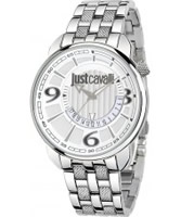 Buy Just Cavalli Mens Silver Earth Watch online