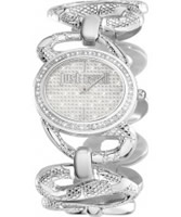 Buy Just Cavalli Ladies Silver Sinuous Watch online
