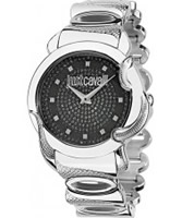 Buy Just Cavalli Ladies Black and Silver Eden Watch online
