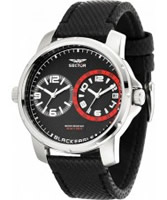Buy Sector Mens Black Eagle Dual Time Watch online