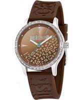 Buy Just Cavalli Ladies Brown Huge Watch online